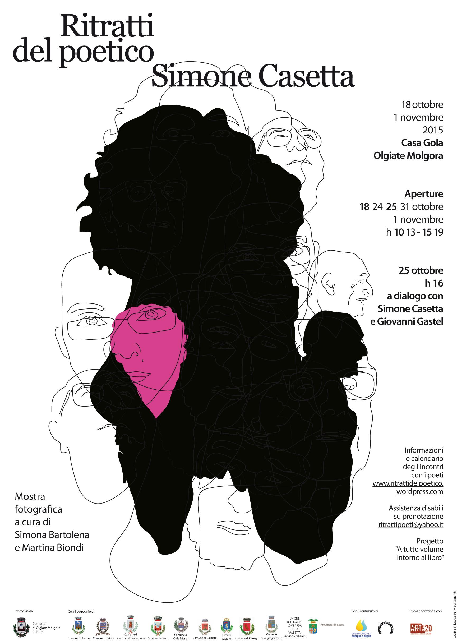 Volantino -ritratti del poetico 15x21